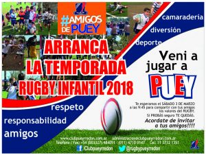 Inicio Rugby infantil